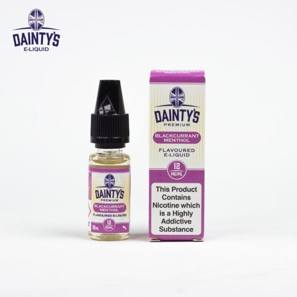 Dainty's 10ml blackcurrant menthol