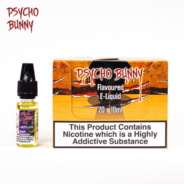 psycho bunny 10ml grapegasm flavour