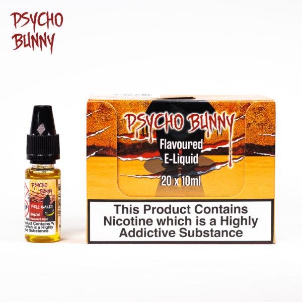 psycho bunny 10ml well baked flavour