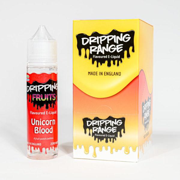 Eco vape Dripping range unicorn blood Flavour 50ml Shortfill