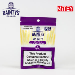 Dainty's Nic Salts Mitey Pod Grape & Blackcurrant