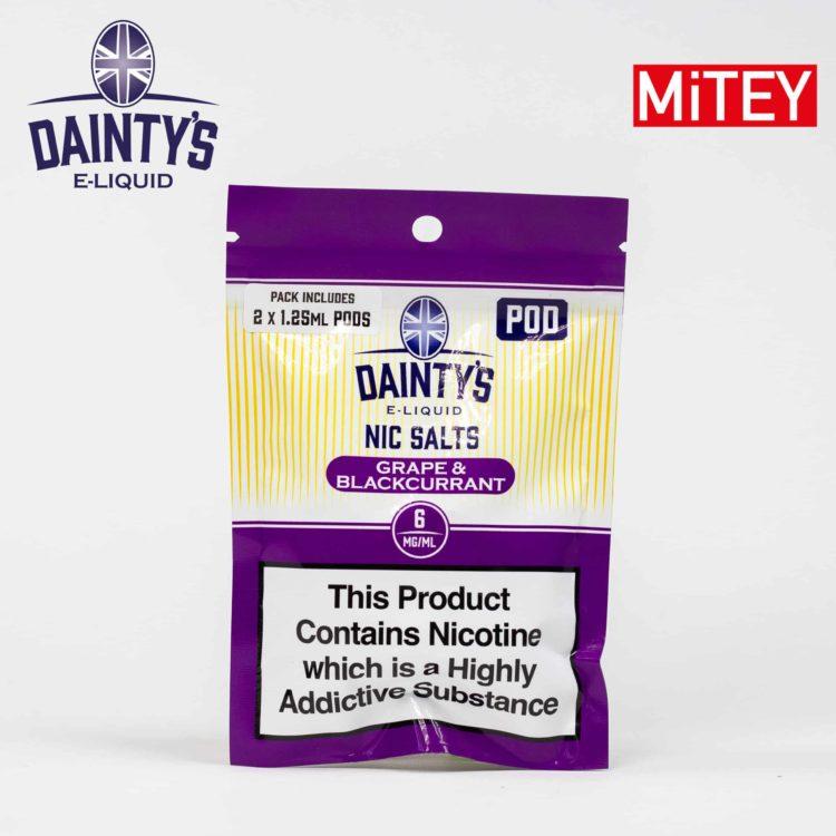 Dainty's Nic Salts Mitey Pod Grape & Blackcurrant