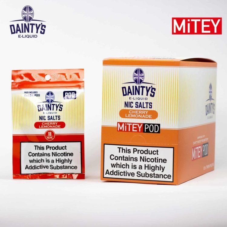 Dainty's Nic Salts Mitey Pod Cherry lemonade