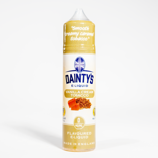EcoVape Dainty's range Vanilla Cream Tobacco 50ml Shortfill