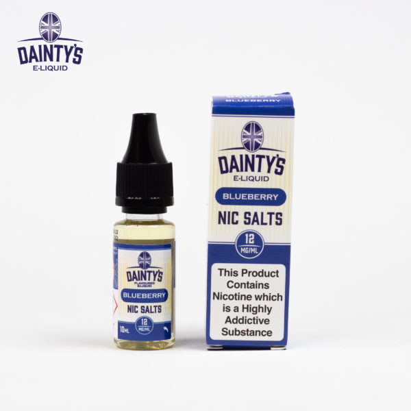 Dainty's 10ml Nic Salts blueberry