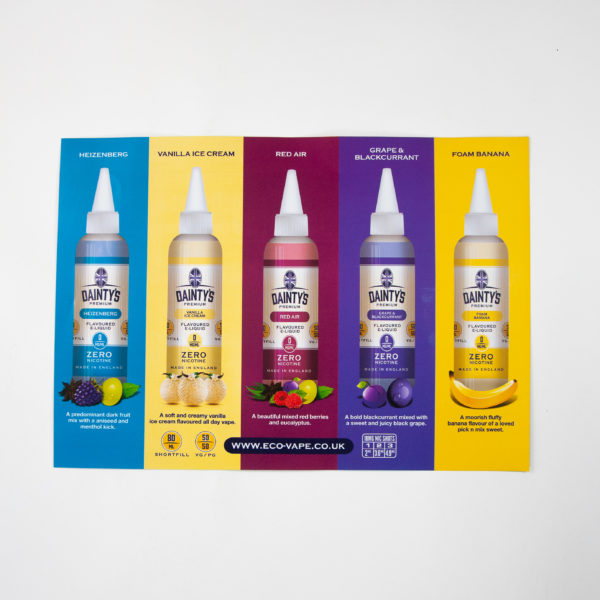 Dainty's 80ml POS Poster