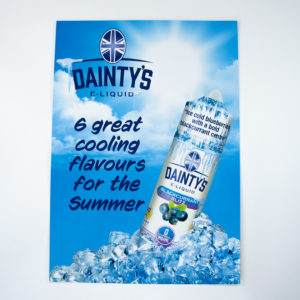 Dainty's Ice POS Poster