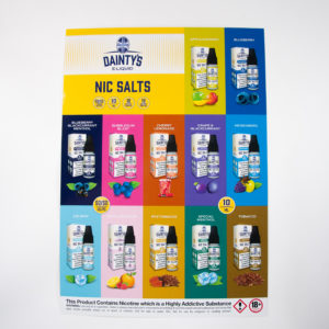 Dainty's Nic Salts POS Poster