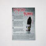 PsychoBunny Nic Salt Display Unit A4 Back