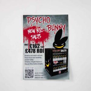 PsychoBunny Nic Salts POS Poster