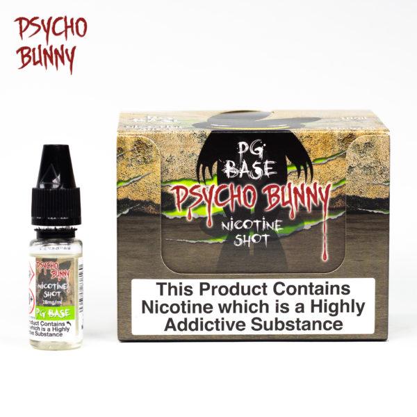 psycho bunny 10ml pg base nicotine shot