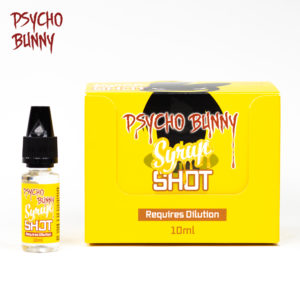 psycho bunny 10ml syrup flavour shot