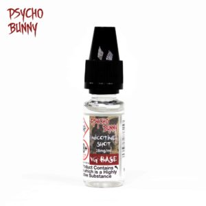 psycho bunny 10ml vg base nicotine shot