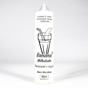 Eco Vape Milkshake Range Banana Milkshake 50ml shortfill 75/25