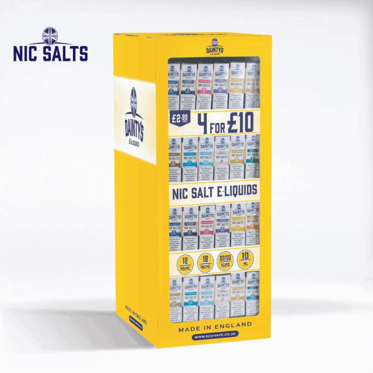 Dainty's Nic Salts POS Stand