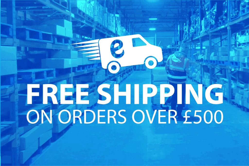 Free Shipping over £500