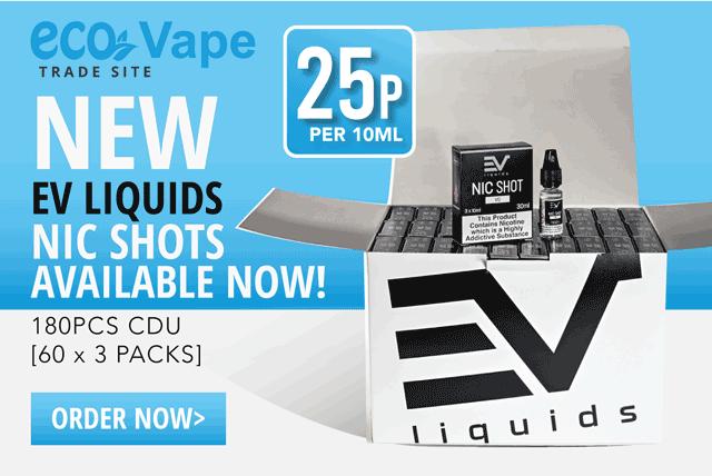 NEW EV Liquids Nic Shots available now just 25p