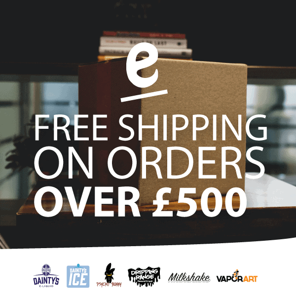 Get Free shipping on orders when you spend over £500