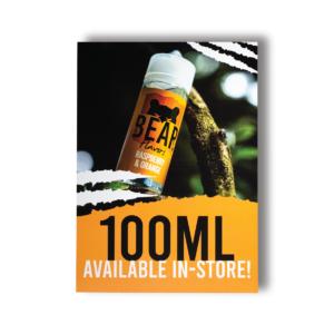 Eco Vape Bear Flavors 100ml POS Poster