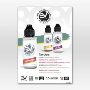 EVL 80ml flavour menu A5