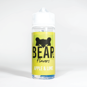 Eco Vape Bear Grizzly Apple Lime 100ml White Background