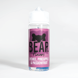 Eco Vape Bear Grizzly Lychee Pineapple Passionfruit 100ml White Background