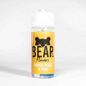 Eco Vape Bear Grizzly Mango Peach Pear 100ml White Background