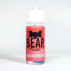Eco Vape Bear Grizzly Wild Raspberry 100ml White Background