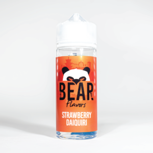 Eco Vape Bear Panda Strawberry Daiquiri 100ml White Background