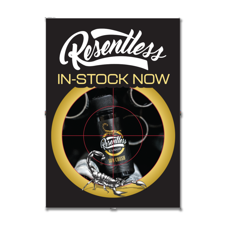 Free POS Resentless Poster A3