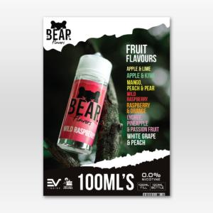Bear 100ml Grizzly Flavour Menu A5