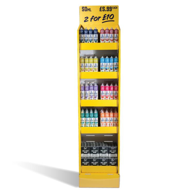 Dainty's 192 x 50ml Free standing display unit
