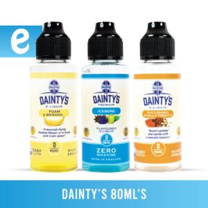 Dainty's. 80ml flavour bundle