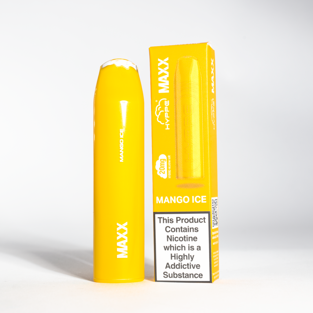 Hyppe MAXX Mango Ice disposable vape with box