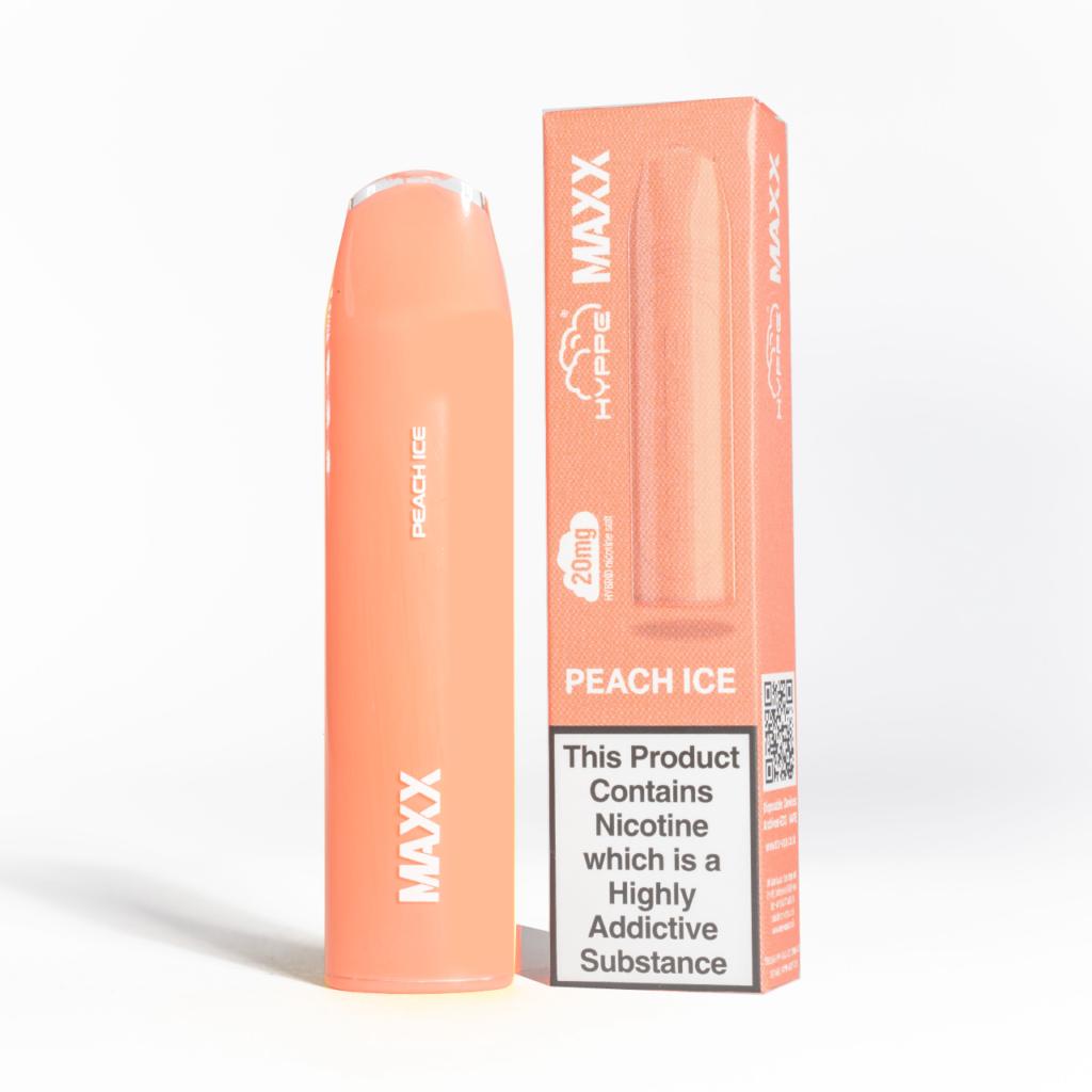 hyppe maxx disposable peach ice